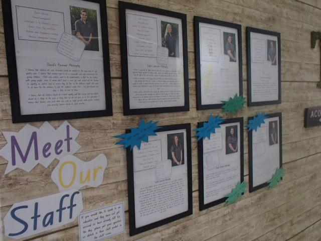 Foyer - meet the staff wall