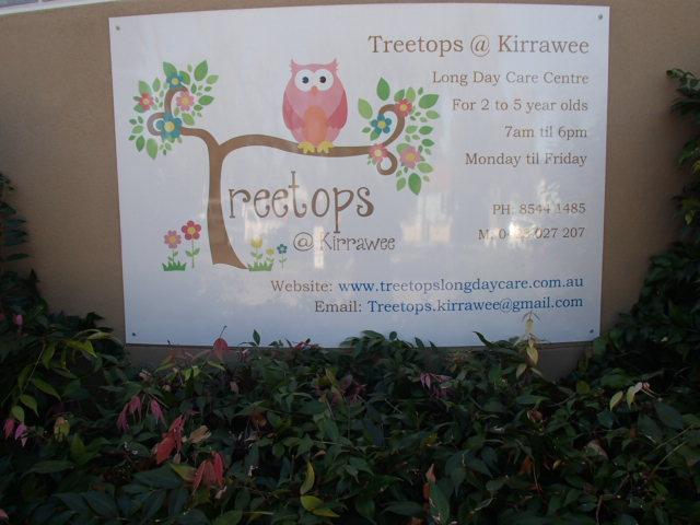 Treetops @ Kirrawee sign