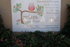 Treetops @ Kirrawee sign